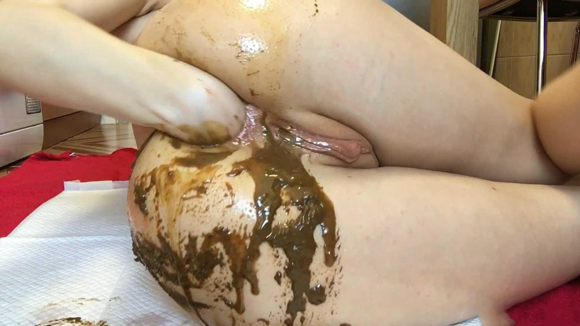 Scat anal masturbation